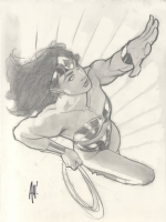 Adam Hughes Wonder Woman DVD 2 Illustration Issue Illustration Page Cover Comic Art