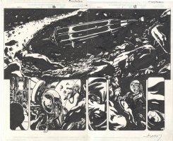 Earth X Issue 03 Page 16 & 17 Comic Art