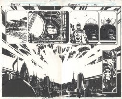 Earth X Issue 09 Page 20 & 21 Comic Art
