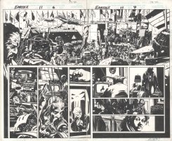 Earth X Issue 11 Page 06 & 07 Comic Art