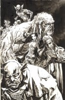 Justice League Dark Unpublished Cover Page Cover Comic Art
