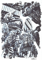 Falling Skies: The Battle of Fitchburg Issue GN Page PInup Comic Art